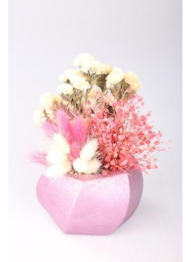 Kibrithane Çiçek Yapay Çiçek Beton Saksı Kuru Çiçek Aranjman Kc00200741 Renkli
